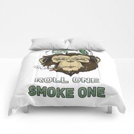 Weed Lovers - Roll One Smoke One Comforters
