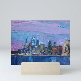 Sydney Skyline with Opera at Dusk Mini Art Print