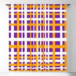Purple & Orange Interlocking Stripes Blackout Curtain