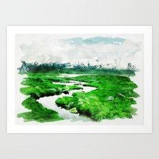 Follow the Stream Art Print