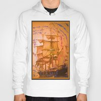 pirate ship Hoodies featuring pirate ship by Vector Art