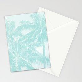 Palm Trees Cyan Kihei Maui Hawaii Stationery Cards