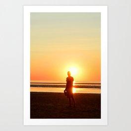 Sunset Fire Art Print