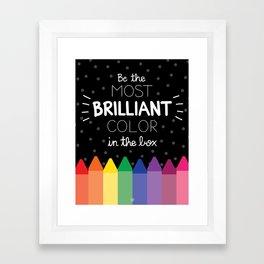Most Brilliant Color Framed Art Print