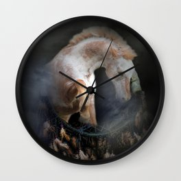 Indian Pony Dream Catcher Wall Clock