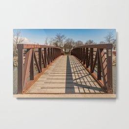 Foot bridge and shadows Metal Print