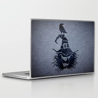 witch Laptop & iPad Skins featuring witch by Erdogan Ulker