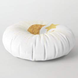 Celestial Gold - Sun Moon and Stars Series 2 Floor Pillow