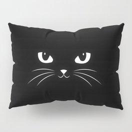 Cute Black Cat Pillow Sham