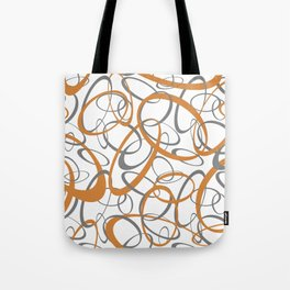 orange and gray loopy geometric ovals Tote Bag