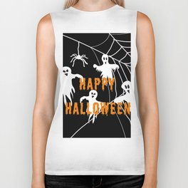 Monsters Happy Halloween Biker Tank