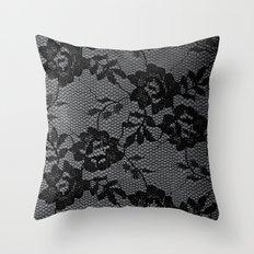 Romance in  Black & White Throw Pillow