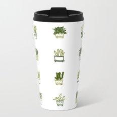 Little Green Plants Metal Travel Mug