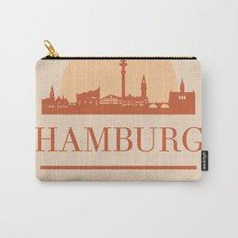HAMBURG GERMANY CITY SKYLINE EARTH TONES Carry-All Pouch