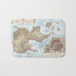 Belthennia - a map of its Independent Territories Bath Mat
