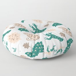 Oriental Tiger with Pine Tree Floor Pillow