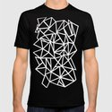 Abstract Outline Thick White on Black by projectm
