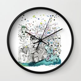 Let's go! to the carnival Wall Clock