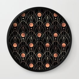 Art Deco Leaves / Version 3 Wall Clock