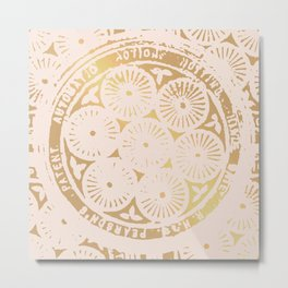 power of one: pink gold Metal Print