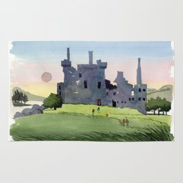 Kilchurn Castle, Scottish Highlands Rug