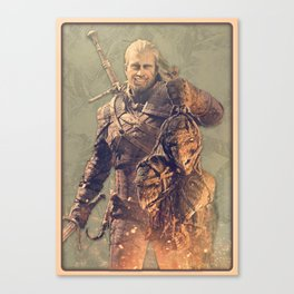 Witcher Geralt Smile Canvas Print