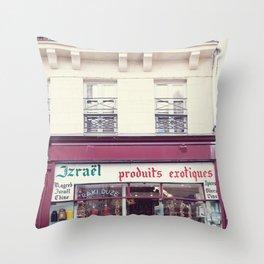Paris, Produits Exotiques Throw Pillow