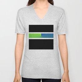 Team Colors 3...blue,green Unisex V-Neck