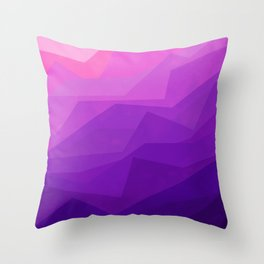 Stratum 3 Purple Throw Pillow