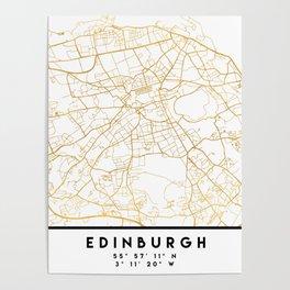EDINBURGH SCOTLAND CITY STREET MAP ART Poster