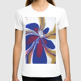 Floral Fluidity - Abstract, acrylic, fluid, painting T-shirt