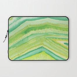 Moss Green Agate Slice Laptop Sleeve