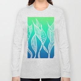 Sway Ombre (Aqua Sea) Long Sleeve T-shirt