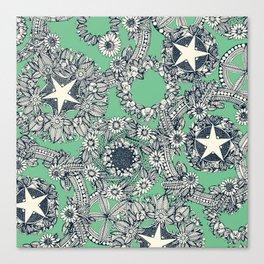 cirque fleur green Canvas Print