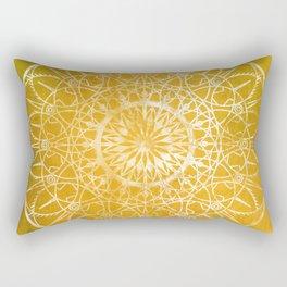 Fire Blossom - Yellow Rectangular Pillow