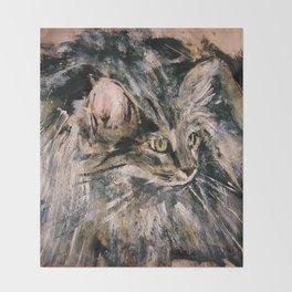 Norwegian Forest Cat Throw Blanket