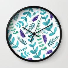 Greenery Pattern II Wall Clock