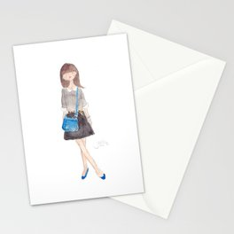Peter Pan Collar Stationery Cards