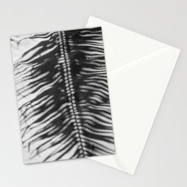 Palm Tree Shadow on Sand in Black and White Stationery Cards