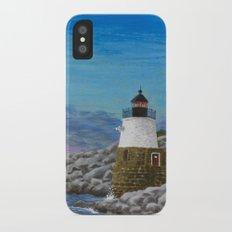 Newport Harbor Lighthouse iPhone X Slim Case