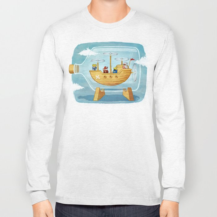 AIRSHIP IN A BOTTLE Long Sleeve T-shirt