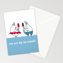 you are my ice-cream! Stationery Cards