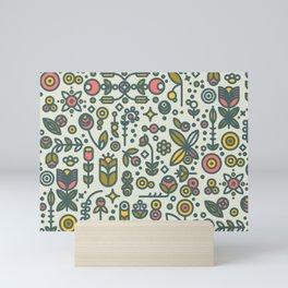 36dot Flower Garden Mini Art Print
