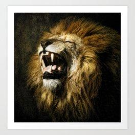 The lion's Roar Art Print