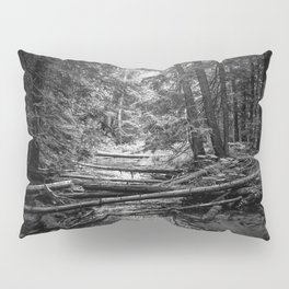 Enchanted Forest in black and white Pillow Sham