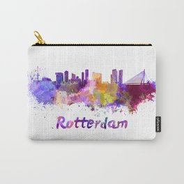 Rotterdam skyline in watercolor Carry-All Pouch