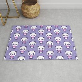 Cute purple baby pandas Rug