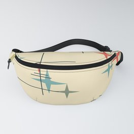Mid Century Modern Stars Colorful 1 Fanny Pack