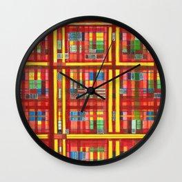 Plaid is my favorite Fall colr Wall Clock