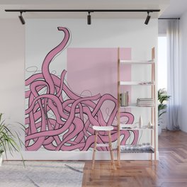 Pink Noodles Wall Mural